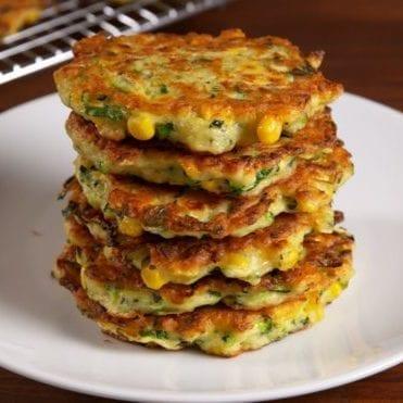 Low Sodium Zucchini & Corn Hash Cakes