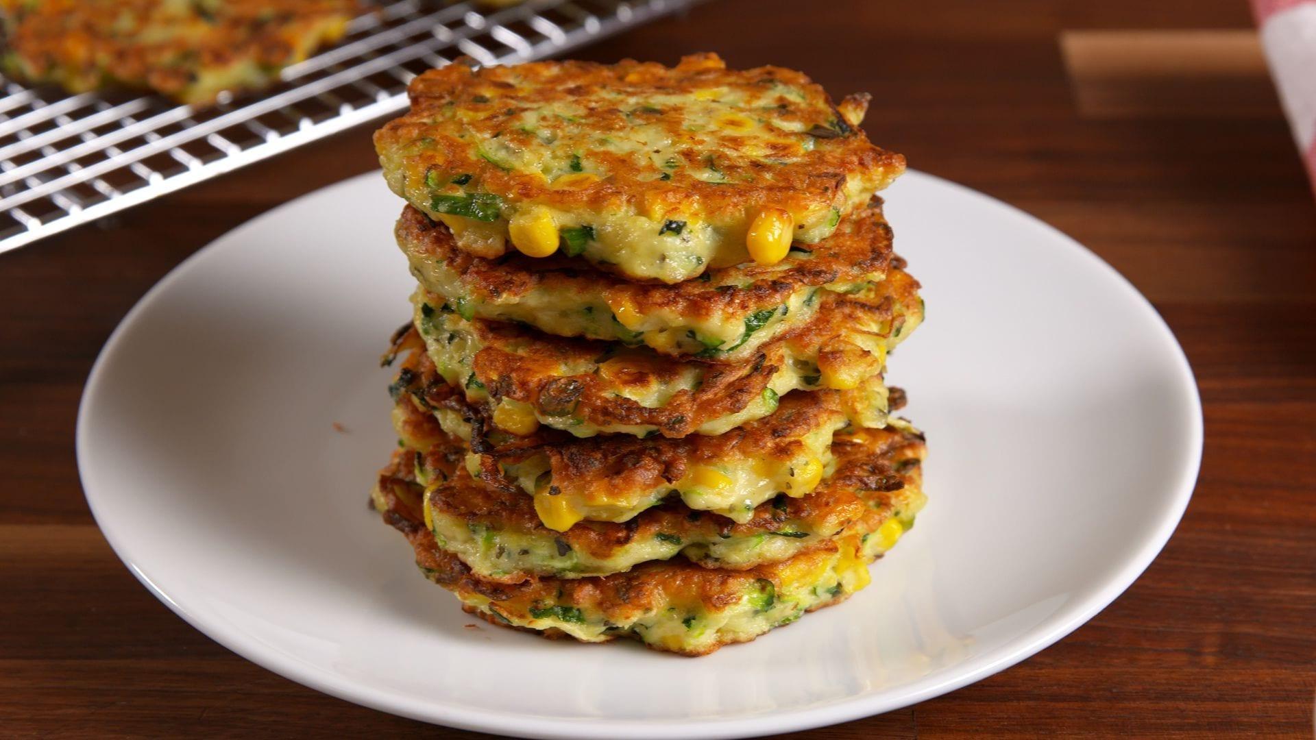 Low Sodium Zucchini Corn Cakes