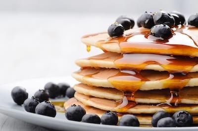 Low Sodium Blueberry Pancakes