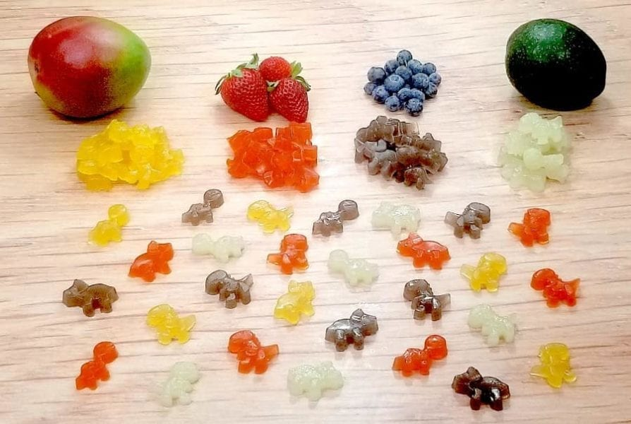 Healthy CBD Gummy Bears from Whole Fresh Fruit