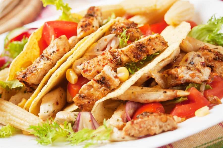 Low sodium kickin chicken tacos