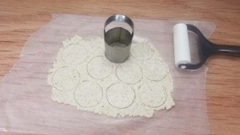 Cut out nut-thin dough