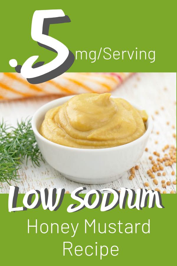 low sodium honey mustard recipe